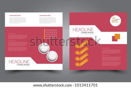 Square Flyer Template Simple Brochure Design Stock Vector 1013411701 ...