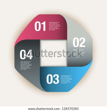 Square Folded Paper Frame Background.  Eps10 file with transparency. - stock vector