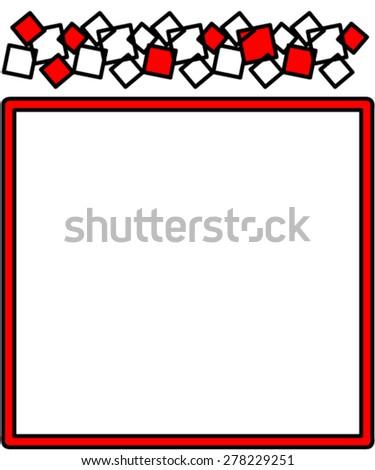 Square frame. - stock vector
