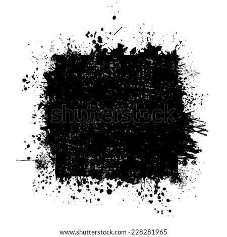square frame of abstract ink spots. Vector - stock vector