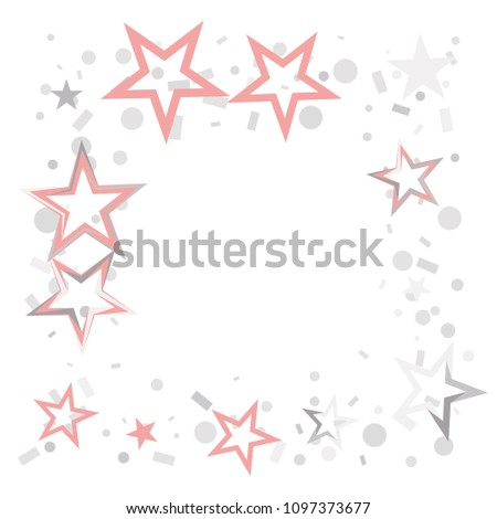 Square Frame Border Christmas Silver Pink Stock Vector 1097373677 ...
