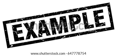 square grunge black example stamp stock vector royalty free