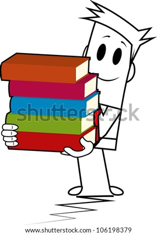 Square guy-book stack