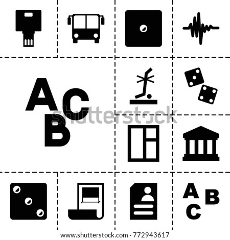 Square Icons Set 13 Editable Filled Stock Vector 772943617