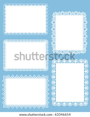 square lace - stock vector
