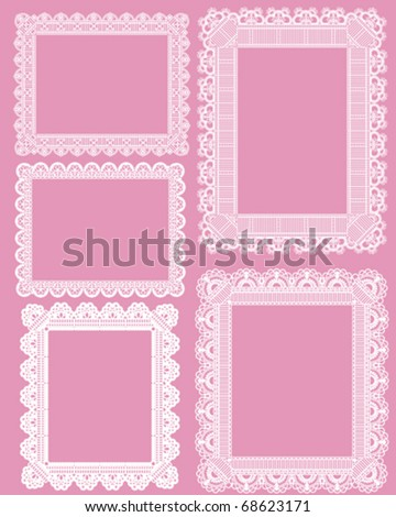 square lace frame - stock vector