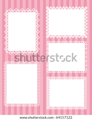 square lace stripes background - stock vector