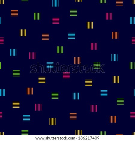 Square Lines Pattern - stock vector
