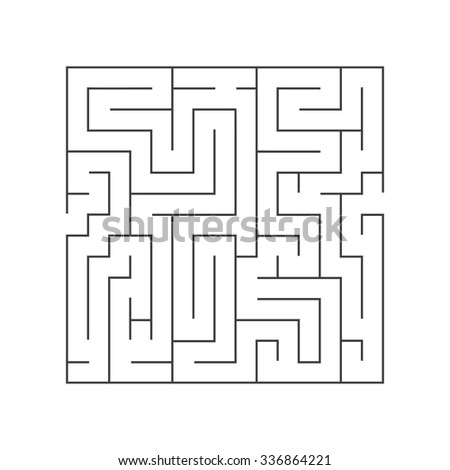 square maze confusion conundrum on a white background - stock vector