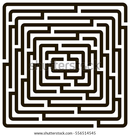 Labyrinth Set Different Shapes Game Books Stock-vektorgrafik ... Tipps Labyrinth Irrgarten Anlegen Kann