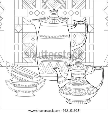 Anastasia evseneva 39 s portfolio on shutterstock for Moroccan coloring pages