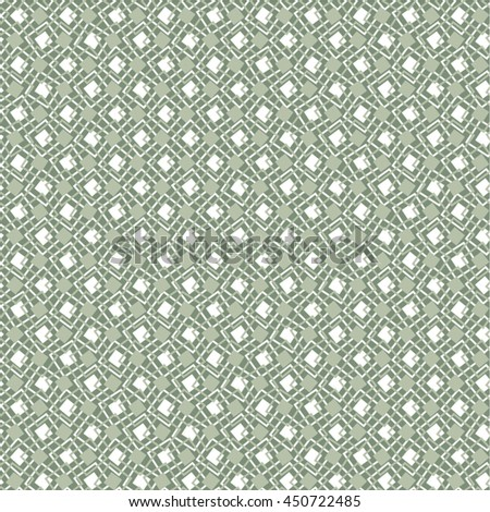 Square monochrome pattern, mesh, seamless vector background.