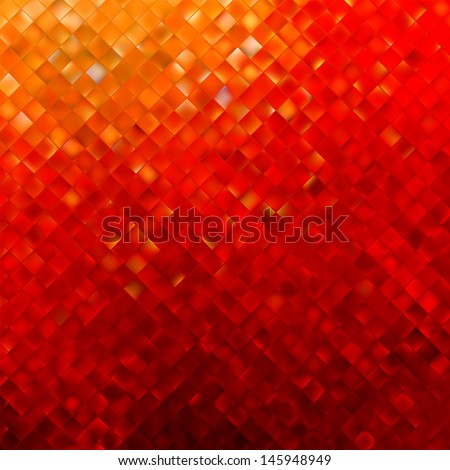 Square pattern in red and orange colors. EPS 8 vector file included - stock vector