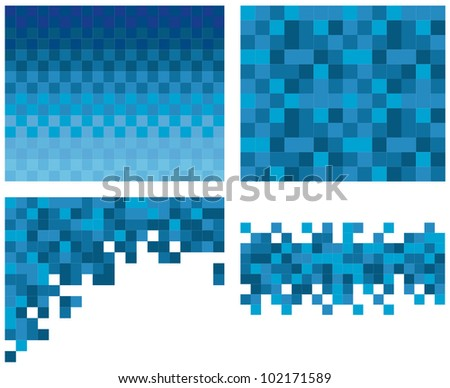 Square pixel mosaic background - stock vector