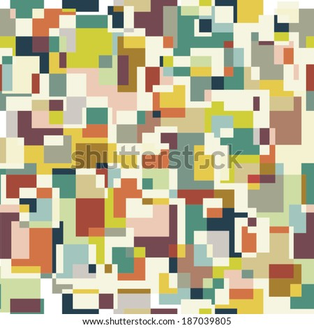 Square pixel seamless pattern. Vector background - stock vector