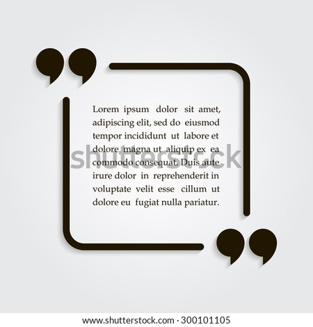 Circle Square Quotation Text Bubble Quote Stock Vector 526364656 ...