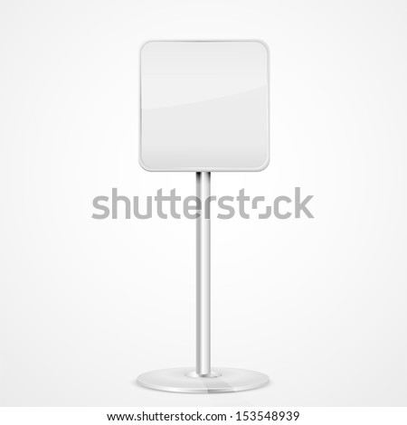 Square road sign on a stand, illustration. - stock vector