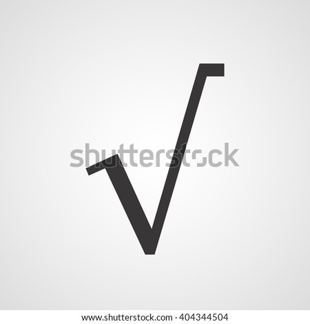 Square Root Symbol Vector Icon Stock Vector Royalty Free 404344504