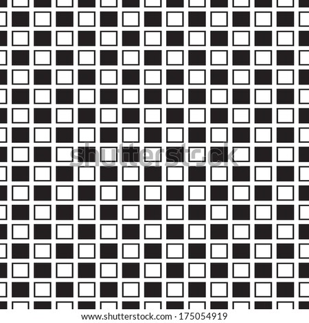 square seamless pattern black and white