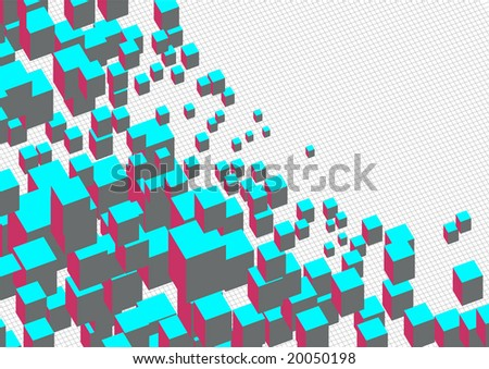 Square Space - stock vector