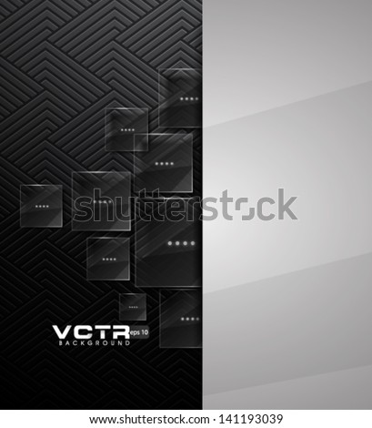Squared Glass - eps10 Modern Background - stock vector