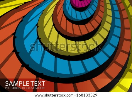 Squared  vector rainbow  spiral color web  background template  - Web template background  illustration  - stock vector