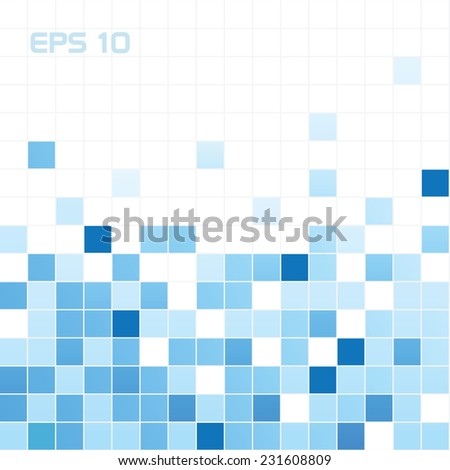 Squares abstract background - stock vector