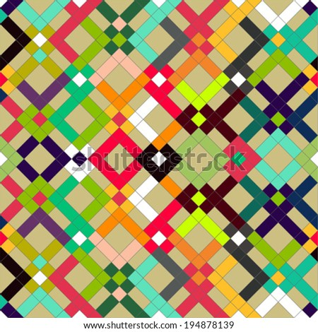 Squares colorful background - stock vector
