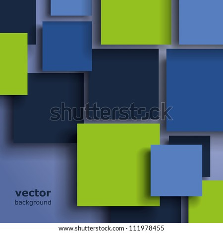 Squares with drop shadows - stock vector