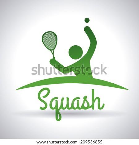 Squash design over gray background vector illustration - stock vector