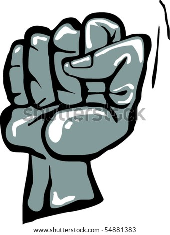 Squeezed fist - stock vector