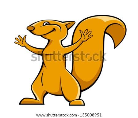 Squirrel - stock vector