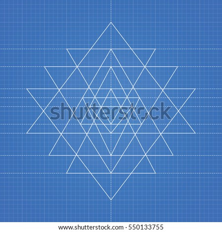 Blueprint paper stock images royalty free images vectors sri yantra a vector illustration of mystical diagram hindu symbol sri yantra on blueprint malvernweather Images