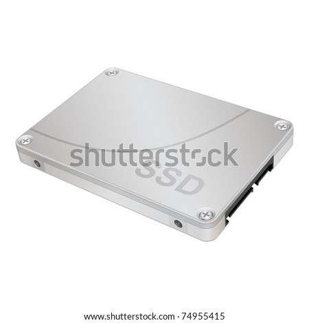 SSD, solid-state drive, vector eps 8 - stock vector