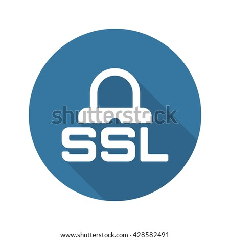 SSL Secured Icon. Flat Design. - stock vector