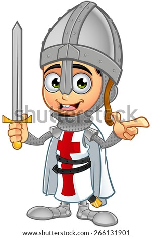 St. George Boy Knight Character