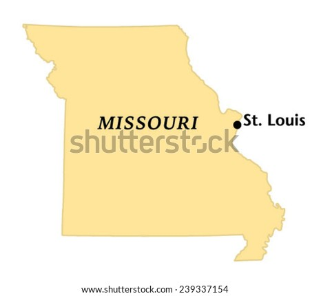 St Louis Missouri Locate Map Stock Vector (Royalty Free) 239337154 ...