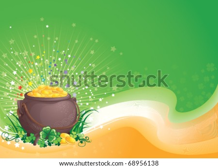St. Patrick background vector illustration with copyspace. - stock vector