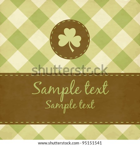 St. Patrick background with clover - stock vector