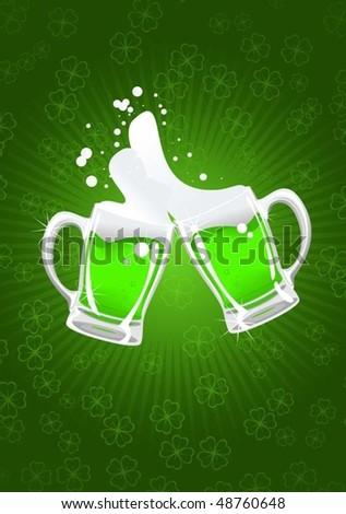 st. patrick's beer - stock vector