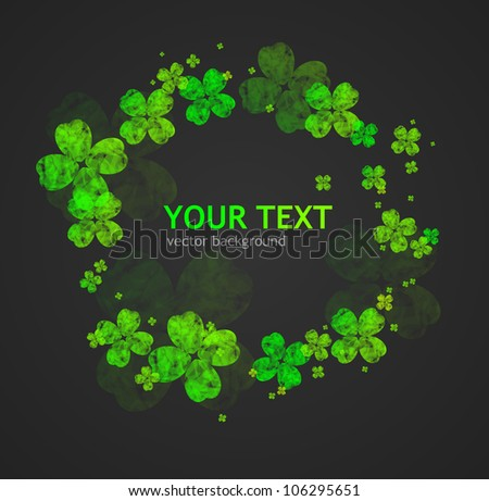 St. Patrick's Day abstract background - stock vector