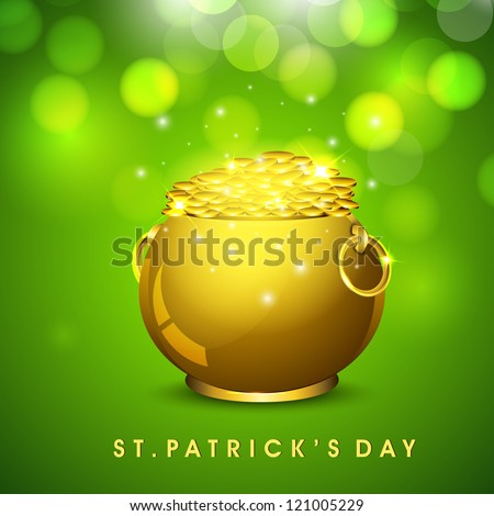 St. Patrick's Day background. EPS 10. - stock vector