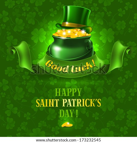 St.Patrick's Day background. Vector illustration  - stock vector