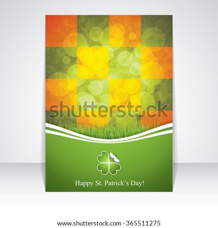 St. Patrick's Day brochure.Vector illustration - stock vector