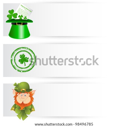 St. Patrick�s Day Decor Banners - stock vector