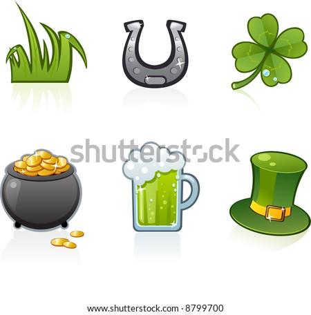 St. Patrick's Day icon set - stock vector