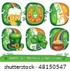 St. Patrick's Day icon set series 3 - stock vector