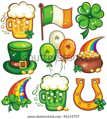 St. Patrick's Day icon set series  2 - stock vector