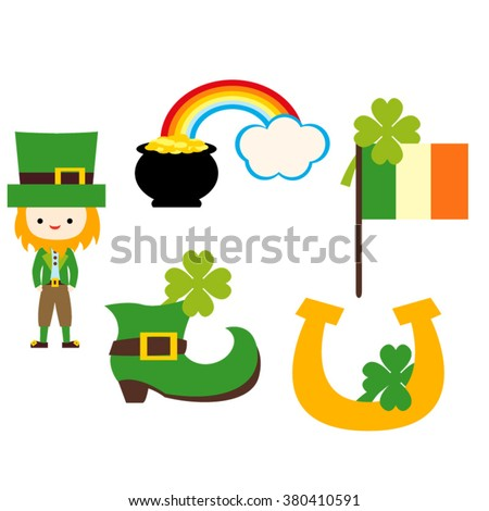 St. Patrick's Day icons vector.