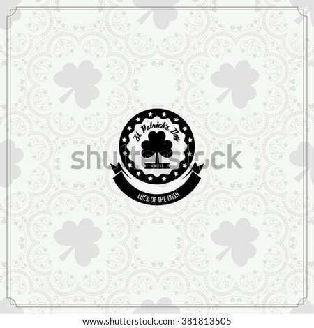 St. Patrick's Day logo, vector illustration. Stock vector.